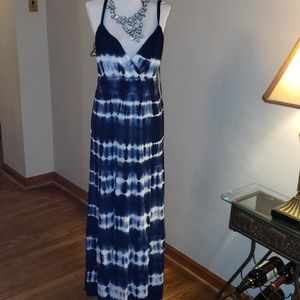 INC tie-dye blue maxi. Jersey. Size Lrge